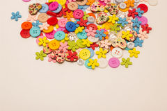 A lot of colored buttons. Many beautiful colored buttons for Hand Made Royalty Free Stock Image