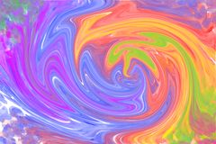 Multicolored abstract pattern. A lot of colored swirling with blown patches of background vector illustration