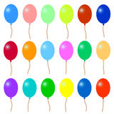 A lot of colorful balloons. stock illustration