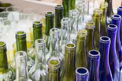 Lot a Colorful bottles green white yellow blue Royalty Free Stock Photography