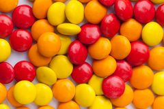 Chocolate Colorful candies royalty free stock images