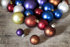 A lot of colorful christmas balls Stock Photos