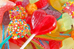 A lot of colorful colorful candies Royalty Free Stock Image