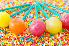 A lot of colorful colorful candies Royalty Free Stock Photos