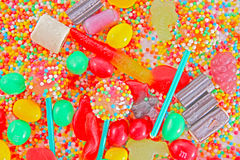 A lot of colorful colorful candies Royalty Free Stock Images
