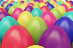 A lot of colorful Easter eggs Stock Image