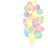 Lot of colorful festive balloons Royalty Free Stock Photos