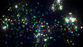 Lot of colorful firework bursts Stock Photography
