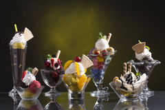 Lot of colorful ice cup Royalty Free Stock Photography