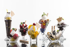 Lot of colorful ice cup Stock Photography