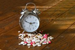 Medication and pills. A lot of colorful medication and pills Stock Image
