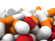 A lot of colorful medication and pills. Concept background Stock Photography
