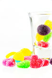 Spilling colorful candy. A lot of colorful sweets Stock Photo