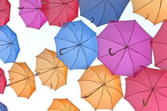 A lot of colorful umbrellas Royalty Free Stock Photography