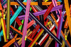 A lot of colorful zippers royalty free stock photo