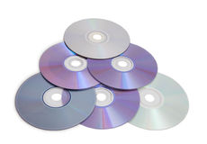 A lot of compact disks Stock Photo
