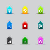 A lot of Computer network icon series Royalty Free Stock Image