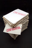 Lot of confidential papers Stock Images