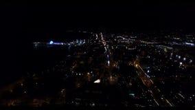 Lot copter nad L A C przy noc zdjęcie wideo