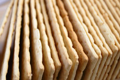 A lot of cracker stacks - closeup Royalty Free Stock Photography