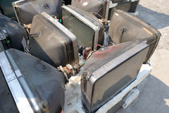 Lot crt monitor. Lot of crt monitor for recycle from bangkok thailand Stock Photography