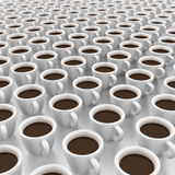 It is a lot of cups of coffee Stock Photos