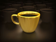 It is a lot of cups of coffee Royalty Free Stock Images