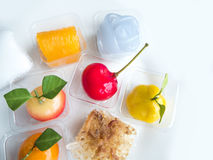 A lot of cut with Thai Dessert, sweet Stock Photos