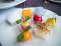 A lot of cut with Thai Dessert, sweet Stock Photography