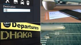 Lot Dhaka Podróżować Bangladesz montażu konceptualna animacja zbiory wideo