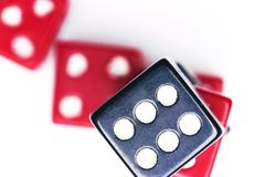 A lot of dice, the texture of the game concept Stock Photography