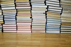 A lot of different books. A large stack of different books on the floor Stock Image