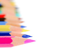 A lot of different color of pencils Royalty Free Stock Images