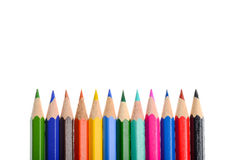 A lot of different color of pencils Stock Photo