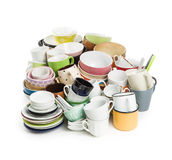 A lot of different dishes Royalty Free Stock Photography