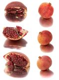 A lot of different garnets. beautiful, juicy, ripe pomegranate on white background, juicy and bright Garnet without background,. Isolate Stock Photography