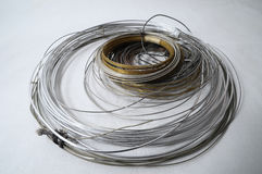 Lot of Different Metal Wire Stock Image