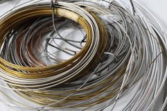 Lot of Different Metal Wire Royalty Free Stock Images
