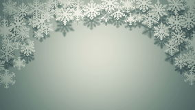 A lot of different paper snowflakes swinging Christmas card stock video footage