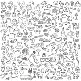 Lot of different pictures. A lot of different pictures on a white background royalty free illustration