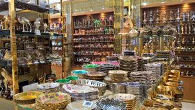 Souvenir shop in Dubai royalty free stock photography