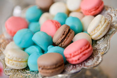 A lot of different type of macarons Stock Image