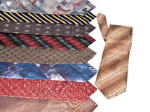 A lot of diverse neckties Royalty Free Stock Photos