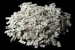A lot of dollar bills Royalty Free Stock Images