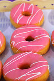 A lot of donuts and strawberry Royalty Free Stock Photography