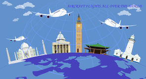lot dookoła świata Fotografia Royalty Free