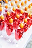 Lot of drinks on a buffet table Stock Image