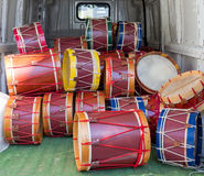 Lot of drums Royalty Free Stock Photo