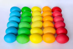 A lot of dyed boiled eggs for Easter Royalty Free Stock Photography
