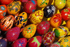 A lot of Easter eggs. Royalty Free Stock Image